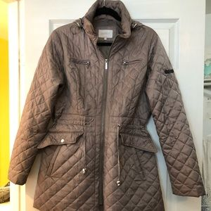 Quilted Rain Jacket with hood